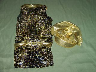 LEOS DANCE COSTUME MC MEDIUM GIRLS HIP HOP NWOT FOIL DIG A LITTLE