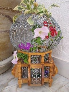 victorian decorative bird cage antique style small