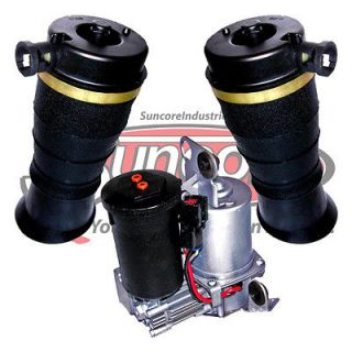 Rear Suspension Air Spring Bags & Compressor Kit 4x4 (Fits Lincoln