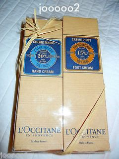 Occitane Gift Set full size 5.2 oz tubes 1 Shea Butter Hand Cream 1