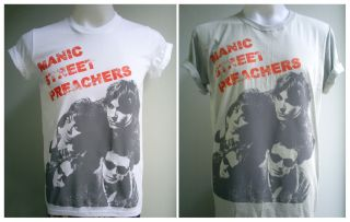 Welsh alternative rock band Manic Street Preachers handmade T Shirt