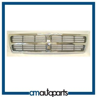 94 97 Dodge Ram Van Full Size Chrome & Argent Front Grille Grill