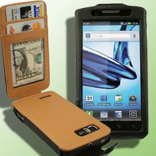 Leather Case for Motorola ATRIX 2 AT&T G Clip Belt MB865 II Wallet