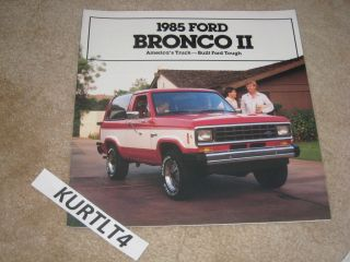 1985 Ford Bronco II Eddie Bauer XLT XLS sales brochure dealer catalog