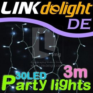 3M 30LED White Decor String Lights for Car Outdoor Indoor Wedding