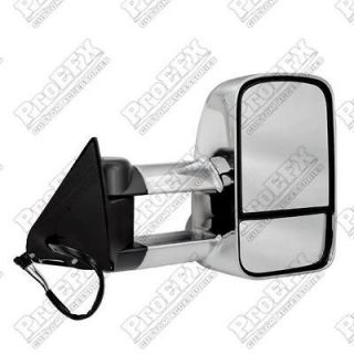 CHEVY SILVERADO CAMPER/TOW MIRRORS, POWER,HEATED, TURN SIGNAL, CHROME