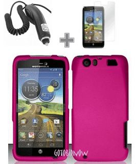 for MOTOROLA ATRIX HD MB886 PINK PROTECTOR PHONE COVER HARD CASE