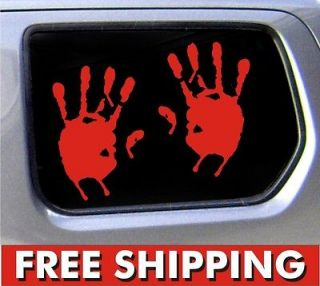 Handprint set outbreak truck funny stickers car decal bumper * 2
