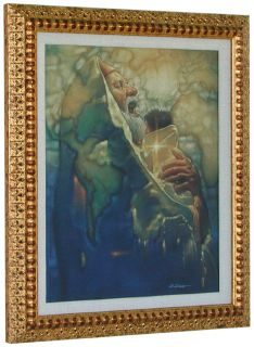 DiCianni SIMEONS MOMENT CANVAS Framed w/linen liner Baby Jesus Art
