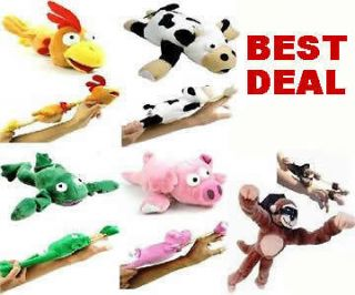 Flying Slingshot Stuffed Screaming Animals Chicken Duck Cow Pig Frog