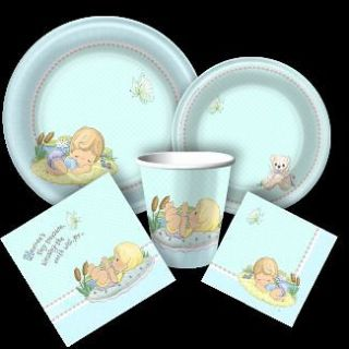 PRECIOUS MOMENTS PARTY SUPPLIES for BOYS BABY SHOWER or 1st First