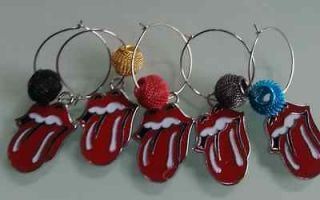 ROLLING STONES MOUTH TONGUE WINE GLASS CHARMS TABLE DECORATION WIRE