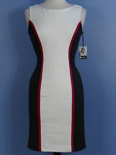 New Valerie Bertinelli Dress 8 Sleeveless Color Blk Stretch Knit