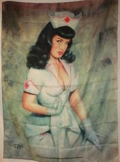 BETTIE PAGE Olivia Berardinis Nurse Cloth Poster Flag