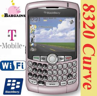 MINT Pink RIM Blackberry Curve 8320 WIFI PDA cell phone (T Mobile