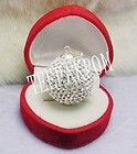 Sterling Silver Fashion Jewelry Preciosa Crystal Ball Pendant   23 mm