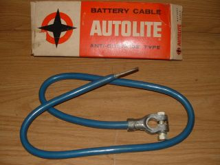 NOS Autolite Ford Heavy Duty Truck 6401 Battery Cable Positive Blue