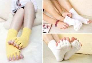 Pair Massage Toe Socks Foot Blood Circulation Relieving Foot Pain Yoga