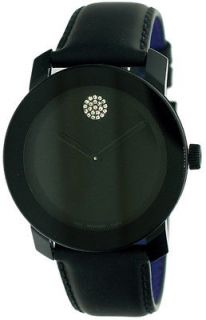 Movado Bold Leather Crystal Unisex Watch 3600044