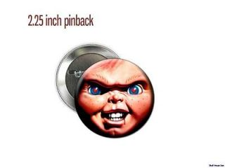 Chucky Childs Play Killer doll face 2 1/4 new Pinback