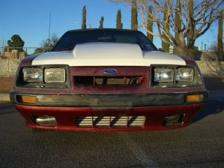 1984 1986 Ford Mustang 3 Cowl TruFiber Functional Body Kit  Hood