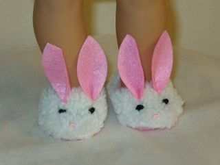 Sherpa BUNNY HOUSE SLIPPERS shoes fit American Girl Madame Alexander
