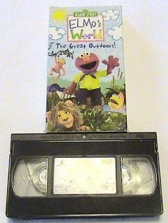elmos world the great outdoors vhs childrens movie sesame street