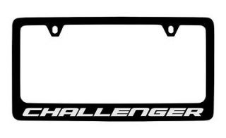 Dodge Challenger Black Coated Metal License Plate Frame Holder