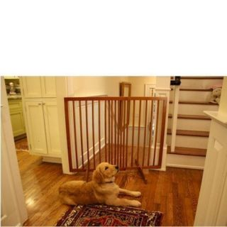 Cardinal Extra Tall Freestanding Pet Gate in Oak