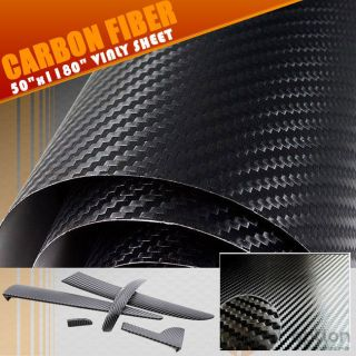 ROLL OF MAZDA BLK CARBON FIBER VINYL SHEET DECAL WRAP 50 X 1180/1