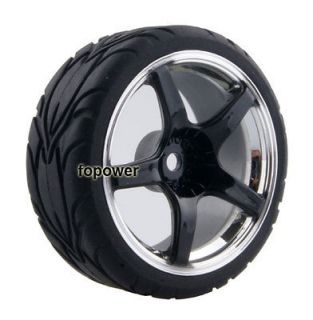 Flat run Tires Tyre Wheel Rim Fit HSP HPI 110 On Road Car 2061 6084
