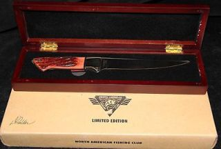 NORTH AMERICAN FISHING CLUB NAFC LIMITED EDITION DHOLDER 1630 KNIFE w