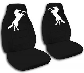 BRAND NEW**CAR SEAT COVERS with mustang HORSE choose your color