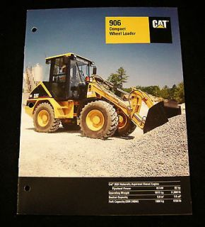 CATERPILLAR CAT 906 Compact Wheel Loader Tractor Advertising Sales