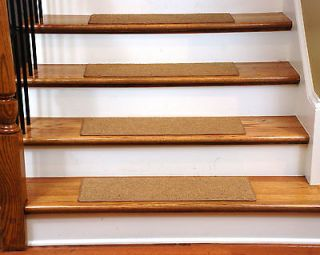 15 Dean Skid Resistant Carpet Stair Treads Runner Rugs   Color Gold