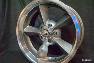 RODWORKS 5 ON 5 BP GUN METAL OLD SCHOOL WHEEL HOT ROD CHEVY GMC TRUCK
