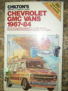 CHEVROLET GMC VAN G 10 20 30 1500 CHILTON SERVICE MANUAL SHOP REPAIR