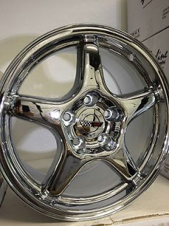 17 Inch Chrome Chevrolet Corvette C4 ZR1 Factory OE Replica Wheels