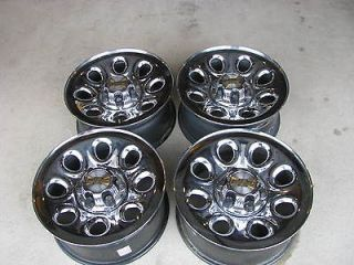 CHEVY SILVERADO / GMC SIERRA 17 STEEL CROME WHEELS RIMS