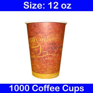 Disposable 12 oz Hot Coffee Paper Cups (Case of 1000)
