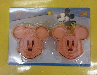Mickey Minnie Mouse PINK Color Cookie Cutter Mold 1 Set with 2 pcs Set
