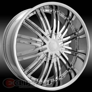 24 inch ELR19 chrome wheels rims Chrysler 300c 5x115