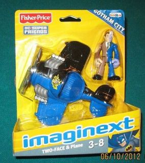 Imaginext Gotham City Batman TWO FACE FIGURE & PLANE SET Fisher Price