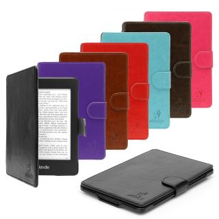 LEATHER HARD COVER CASE FOR  KINDLE PAPERWHITE + FAST SHIPPING