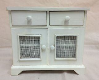 DOLL WOOD FURNITURE PIECE KITCHEN CABINET 2 DOORS 2 DRAWERS