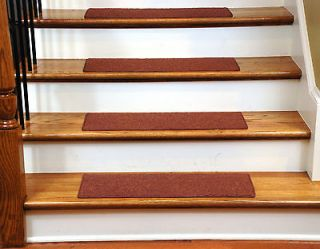 15 Dean Skid Resistant Carpet Stair Treads Runner Rugs   Color Copper
