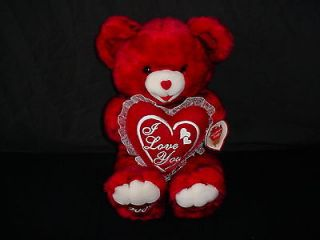 Dan Dee Collectors Choice 2002 I Love You Valentines Day Teddy Bear