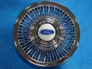 NOS Ford Crown Victoria Spoke Design 15 Wire Wheel Hub Cap Cover