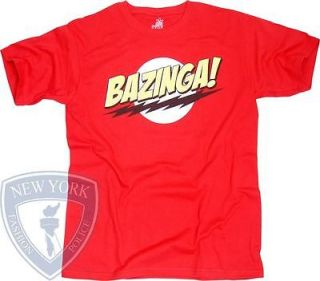 THE BIG BANG THEORY T SHIRT SHELDON BAZINGA TOP XXL