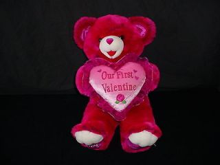 Dan Dee Collectors Choice 2004 Our First Valentines Day Teddy Bear